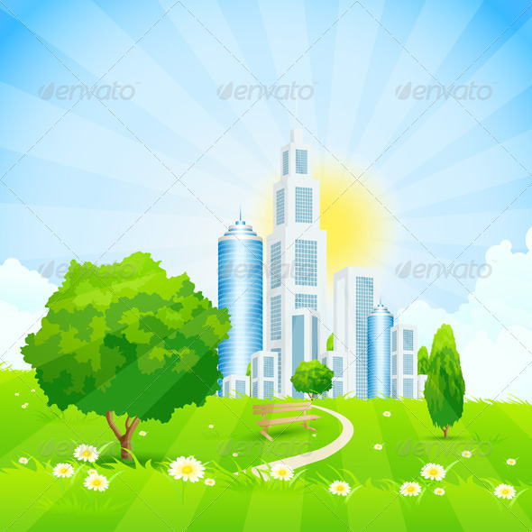 GraphicRiver City Park 7709928