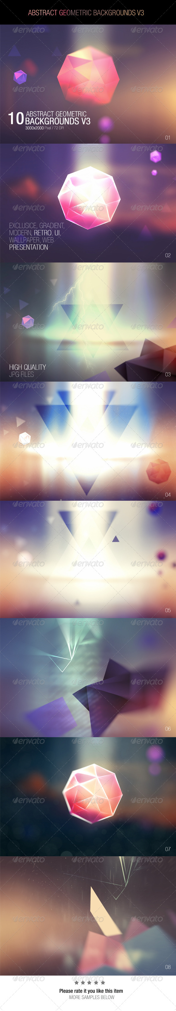 GraphicRiver Abstract Geometric Backgrounds V3 7710031