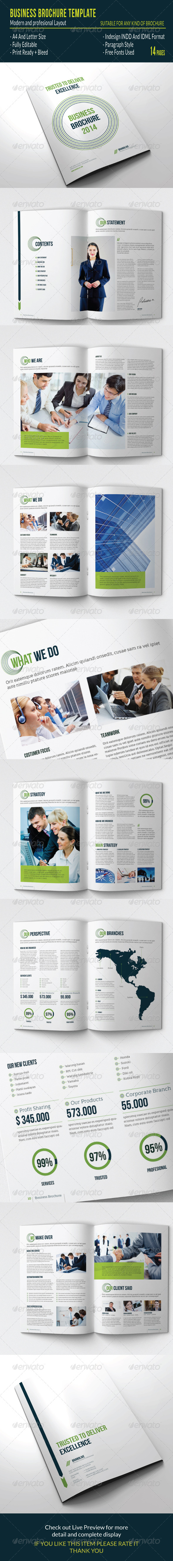 Business Brochure Template - Brochures Print Templates