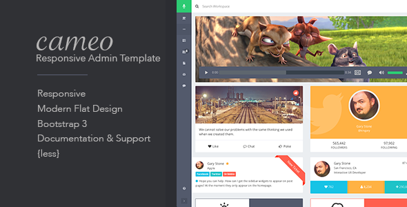 ThemeForest Cameo Bootstrap 3 Responsive Admin Template 7647240
