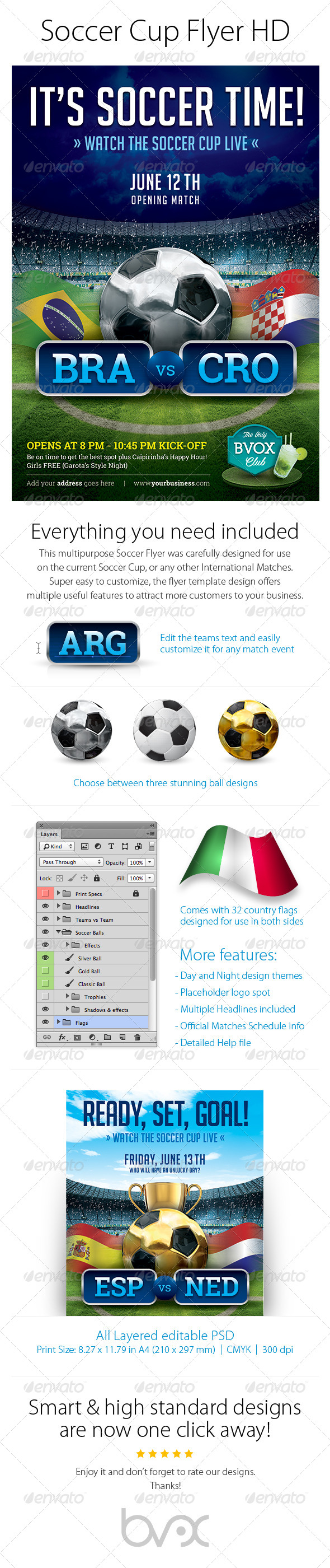 GraphicRiver Soccer Cup Flyer HD 7533540