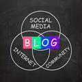 Blog Means Online Journal or Social Media in Internet Community