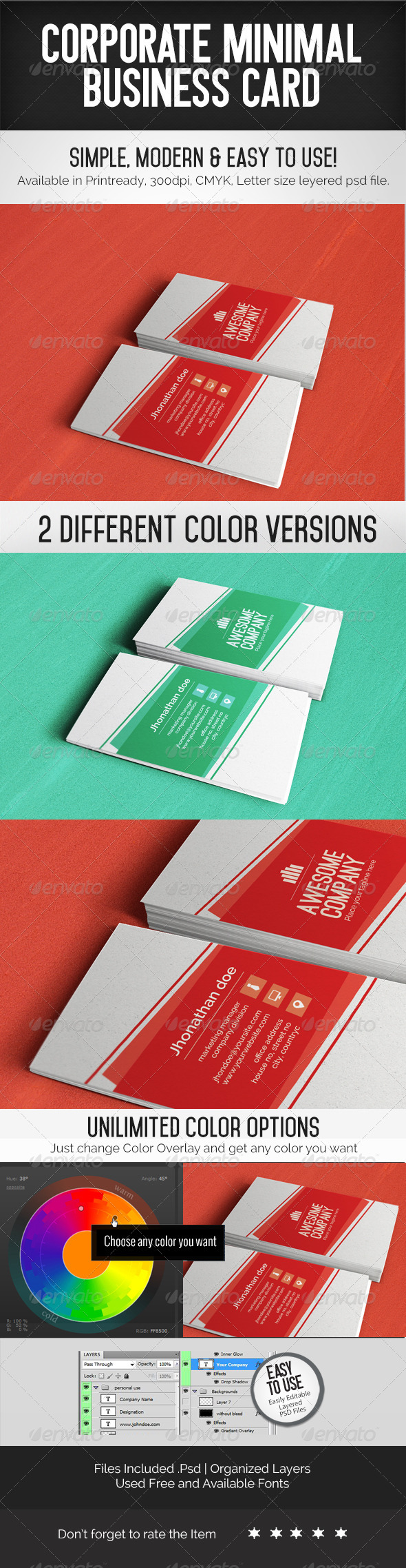GraphicRiver Corporate Minimal Business Card Template 7710202