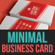 Corporate Minimal Business Card Template  - GraphicRiver Item for Sale