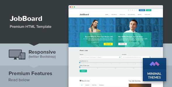 ThemeForest JobBoard Responsive Job Market HTML Template 7641746