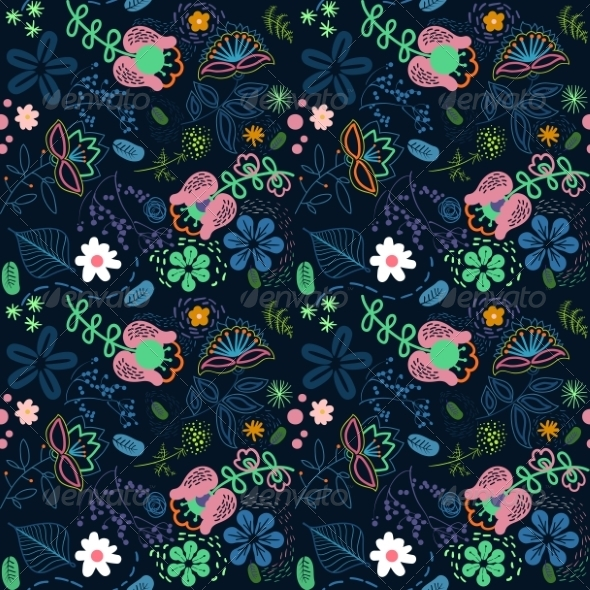 GraphicRiver Abstract Flowers Background 7710209