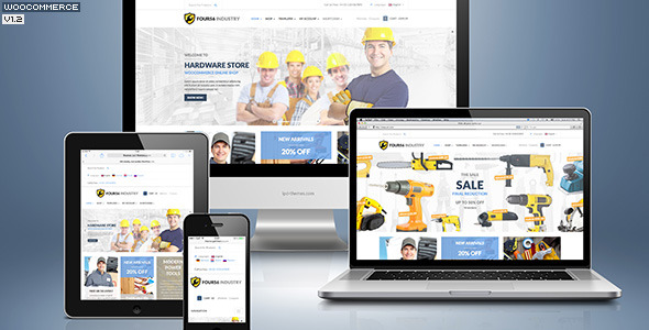 456Industry eCommerce Wordpress Theme - Preview image