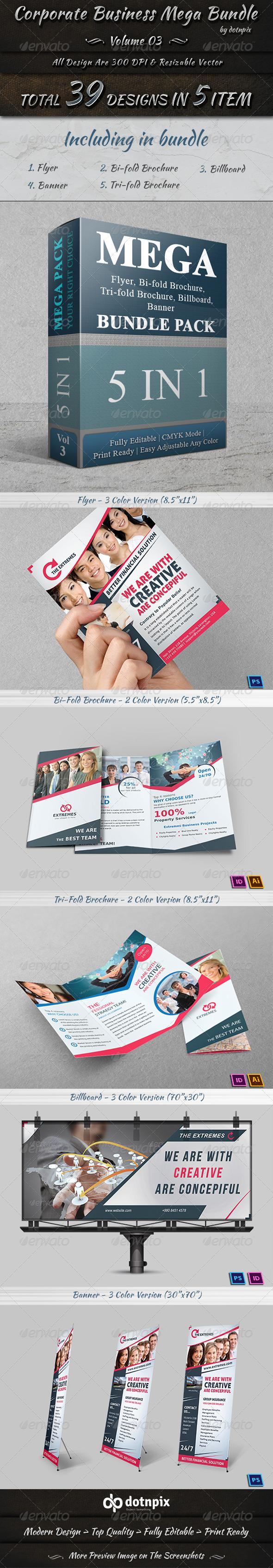 GraphicRiver Corporate Business Mega Bundle Volume 3 7685164