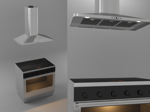 3DOcean Stove and Kitchen Hood 7710507
