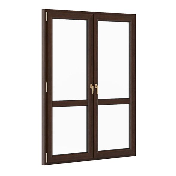 3DOcean Wooden Window 1730mm x 2300mm 7710548
