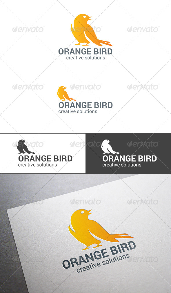 GraphicRiver Sitting Bird Sparrow Logo abstract 7711296