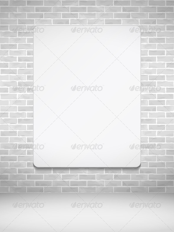 GraphicRiver Vertical Poster on Brick Wall 7711908