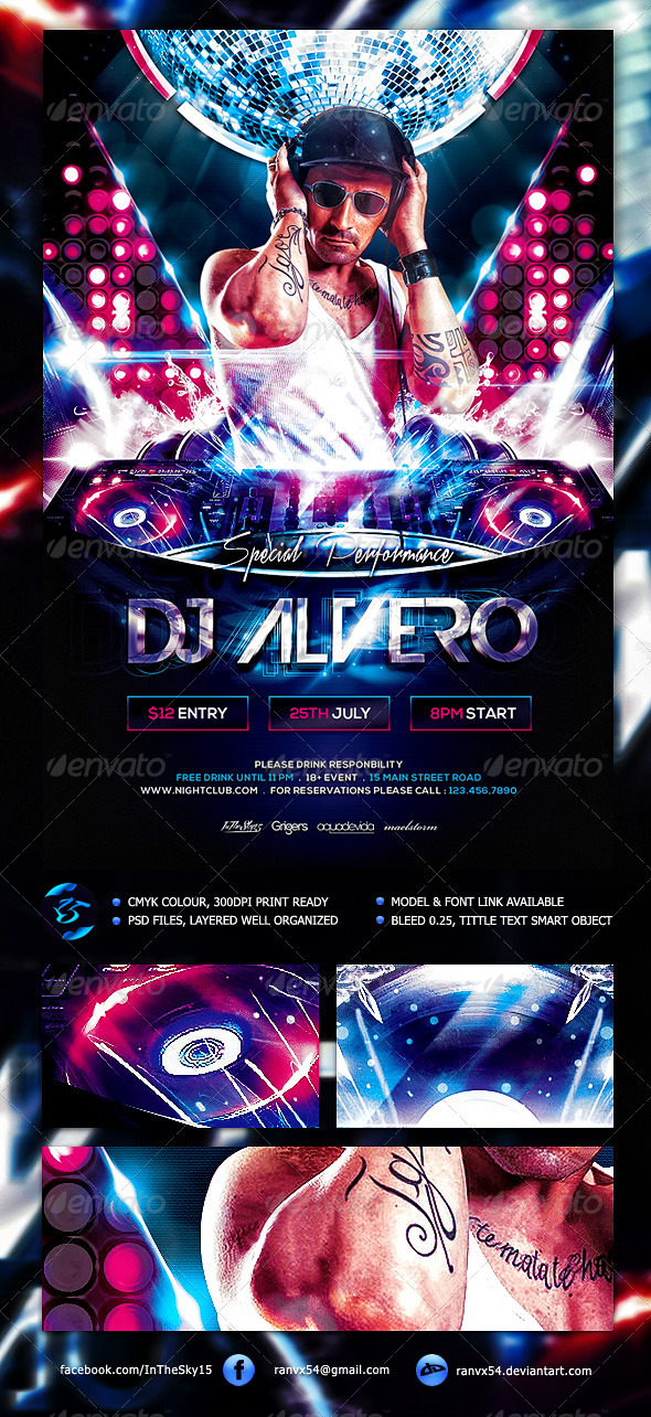 GraphicRiver DJ Flyer Template 7683522