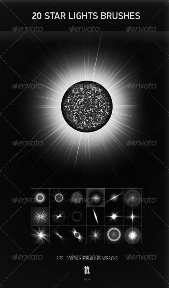 GraphicRiver 20 Stars Brushes 7712180
