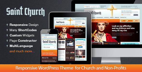 SaintChurch: Responsive Church Theme - Churches Nonprofit