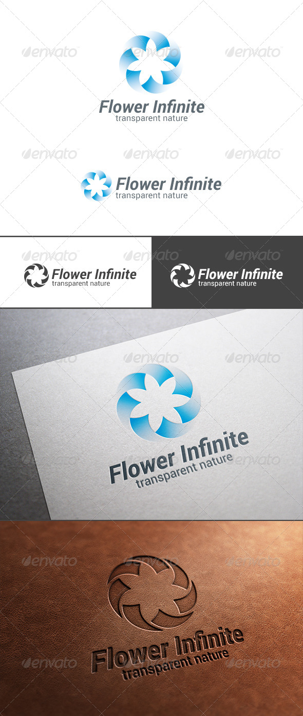 Star Flower Looped Infinity Logo