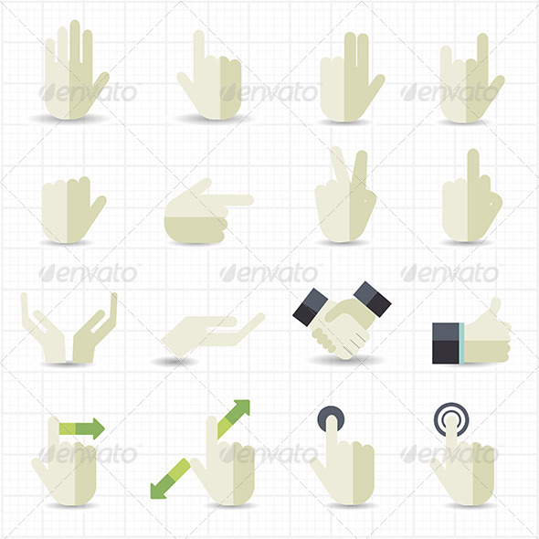 GraphicRiver Hand Gesture Icons 7712473