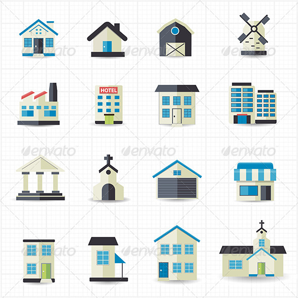GraphicRiver Home Building Icons 7712478