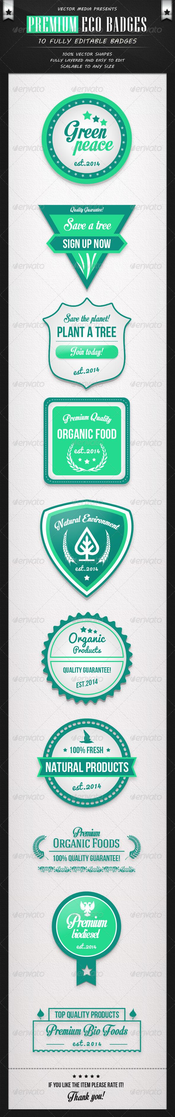 Premium Eco Badges
