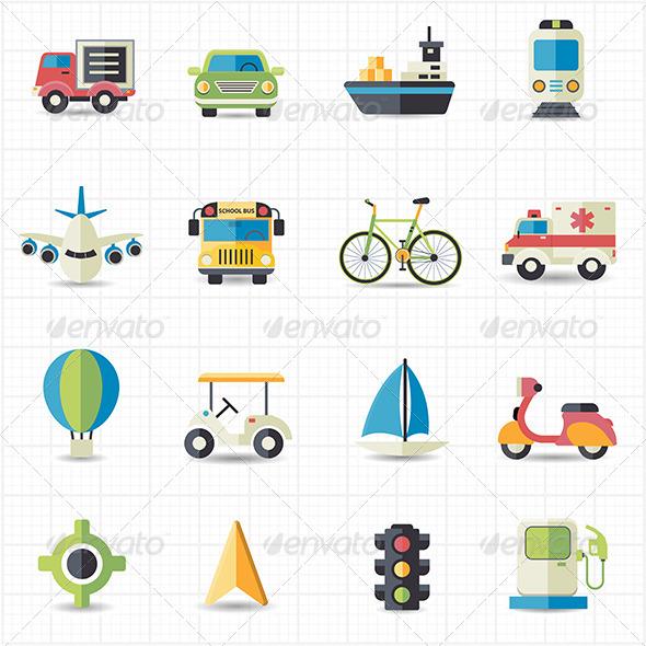 GraphicRiver Transportation Icons 7712530