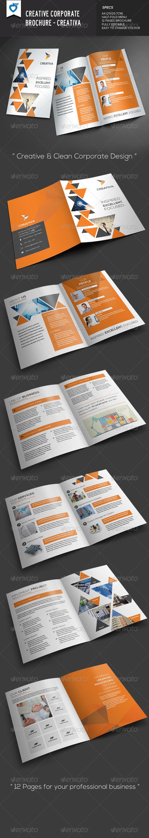 GraphicRiver Creative Corporate Brochure Creativa 7712538