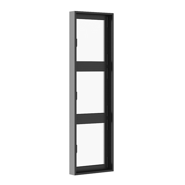 Black Metal Window 800mm x 2700mm - 3DOcean Item for Sale
