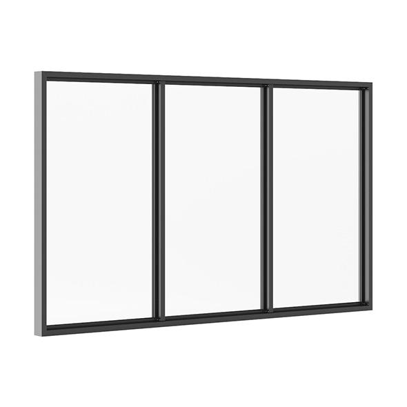 3DOcean Black Metal Window 3100mm x 1880mm 7712699
