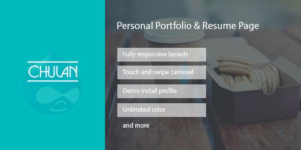 ThemeForest Chulan Personal Portfolio & Resume Drupal Theme 7712709