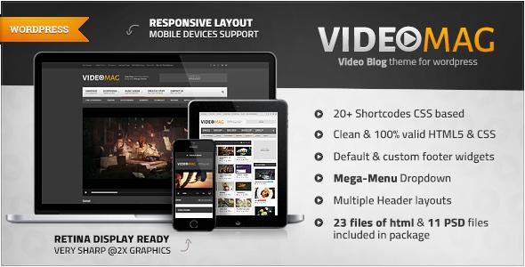 ThemeForest VideoMag Powerful Video WordPress Theme 7712718