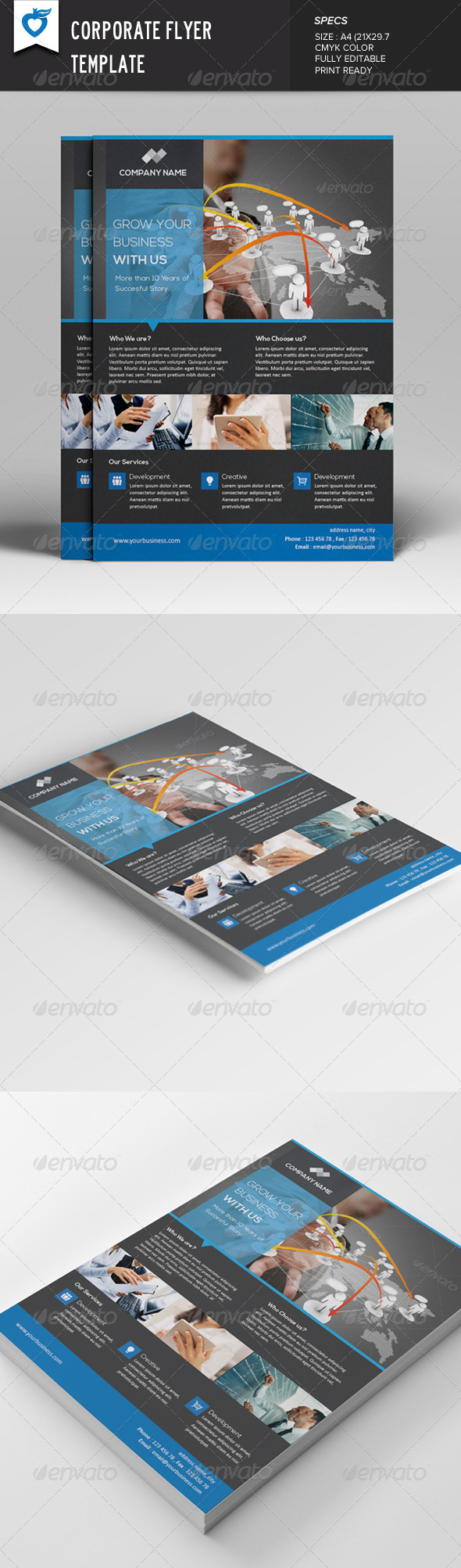 GraphicRiver Corporate Flyer Template v2 7712781
