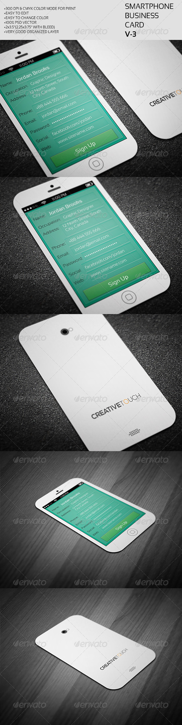 GraphicRiver Smartphone Business Card V-3 7712942