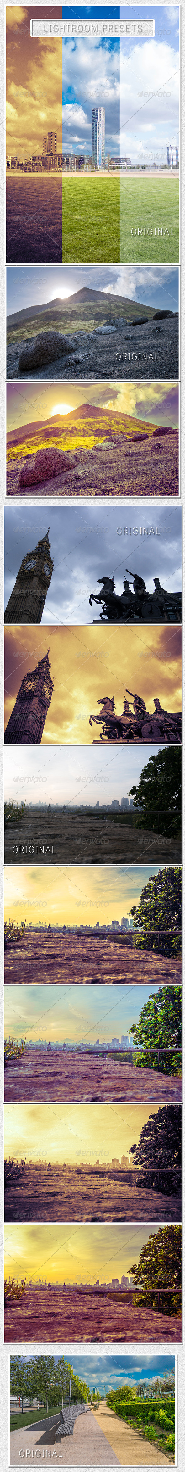 GraphicRiver 6 HDR Lightroom Landscape Presets 7698349
