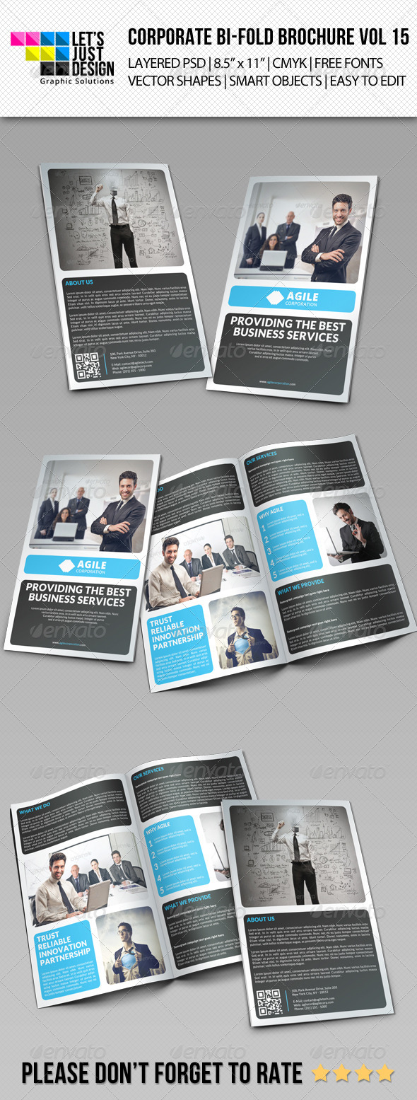 GraphicRiver Creative Corporate Bi-Fold Brochure Vol 15 7713342