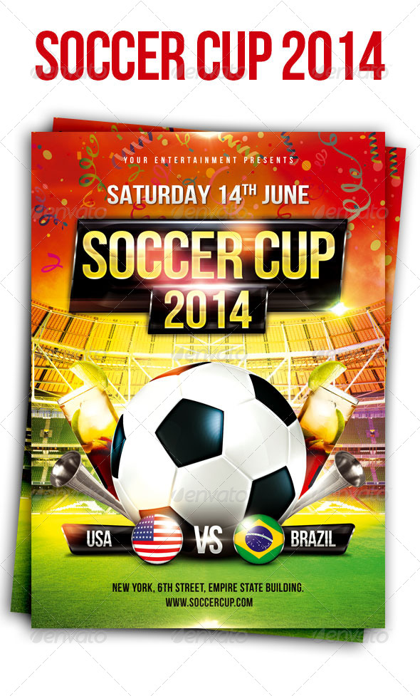 GraphicRiver Soccer Cup Flyer 7713343
