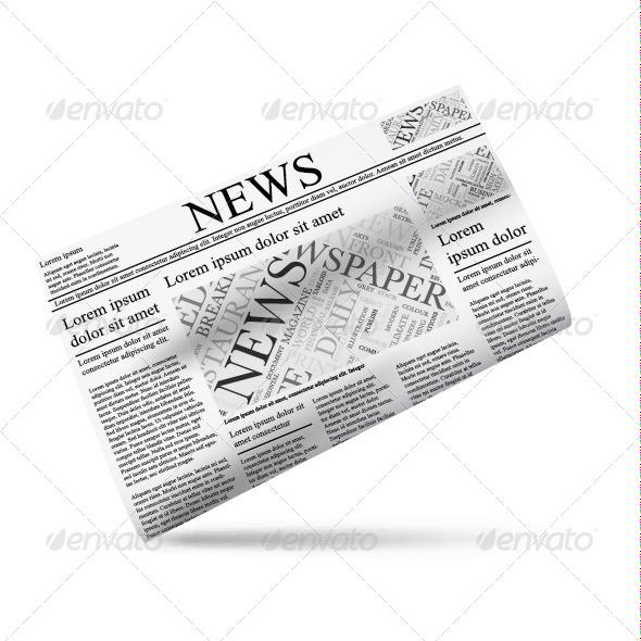 GraphicRiver Newspaper Icon Template 7713524