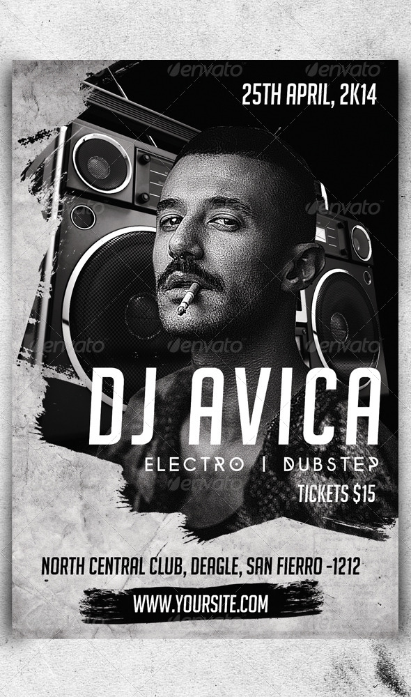 GraphicRiver DJ Promotional Flyer V1 7713555