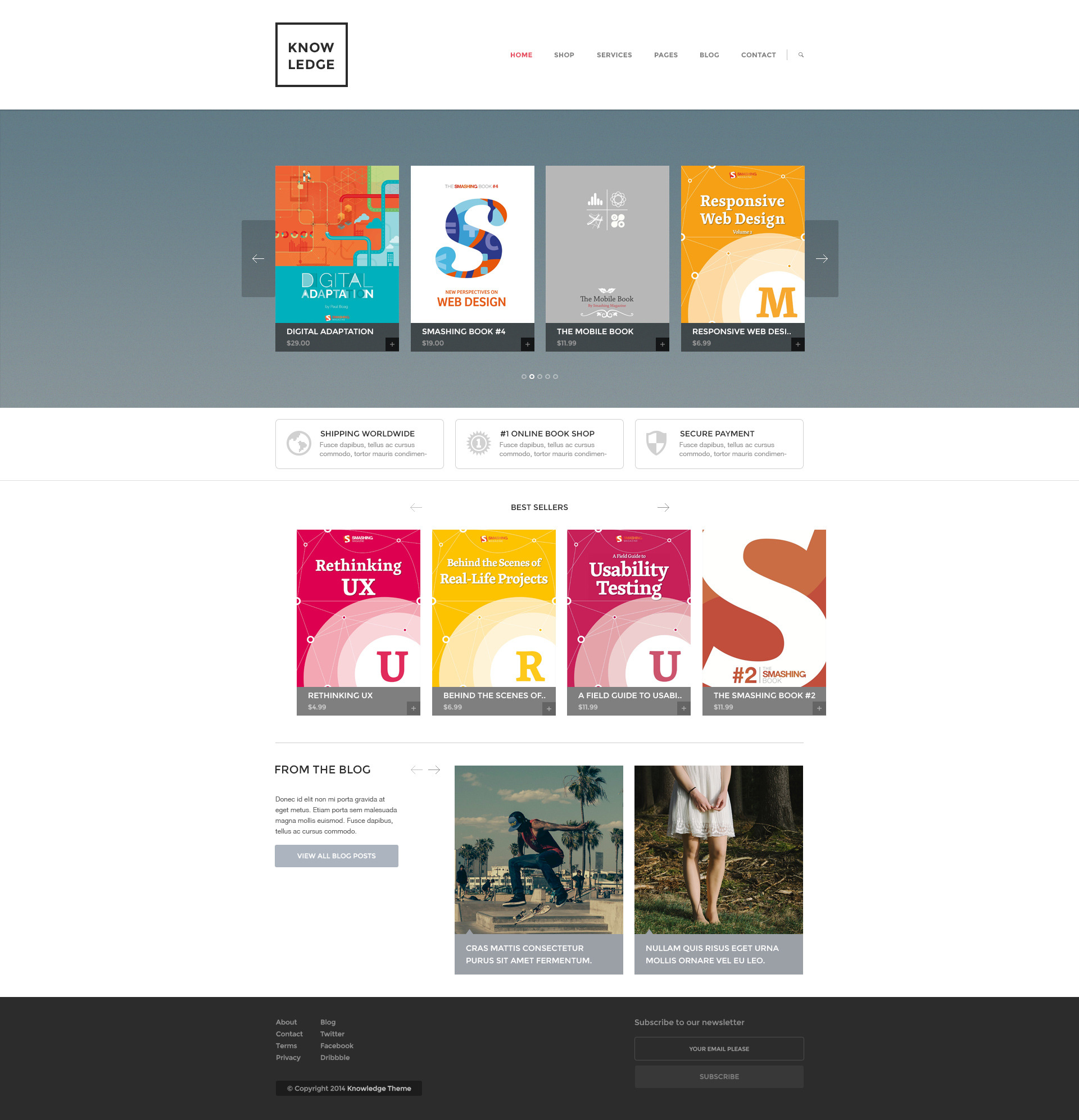 Knowledge :: Multi-Purpose PSD Template