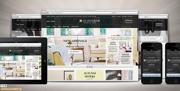 123Interior eCommerce Wordpress Theme - Preview image