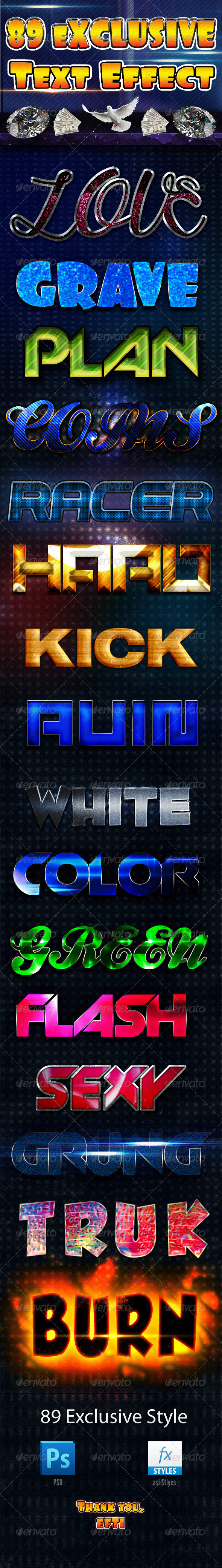 GraphicRiver 89 Exclusive Text Effect 7713766