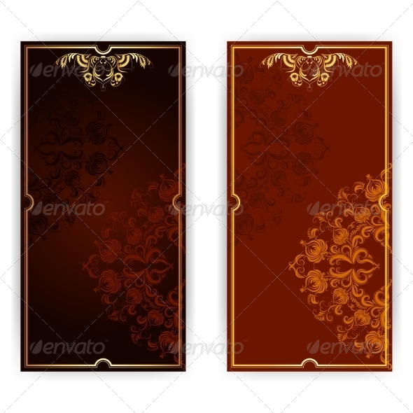GraphicRiver Invitation Card with Brown Ornament 7713831