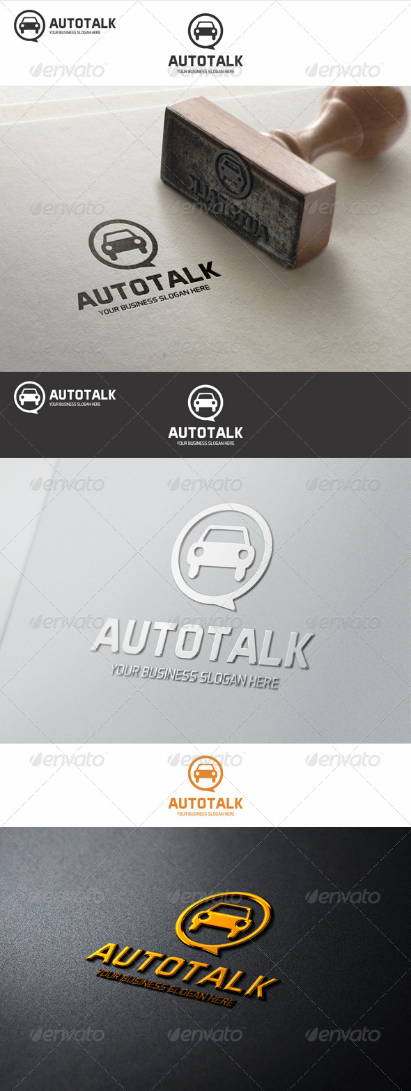 Auto Talk Logo - Objects Logo Templates