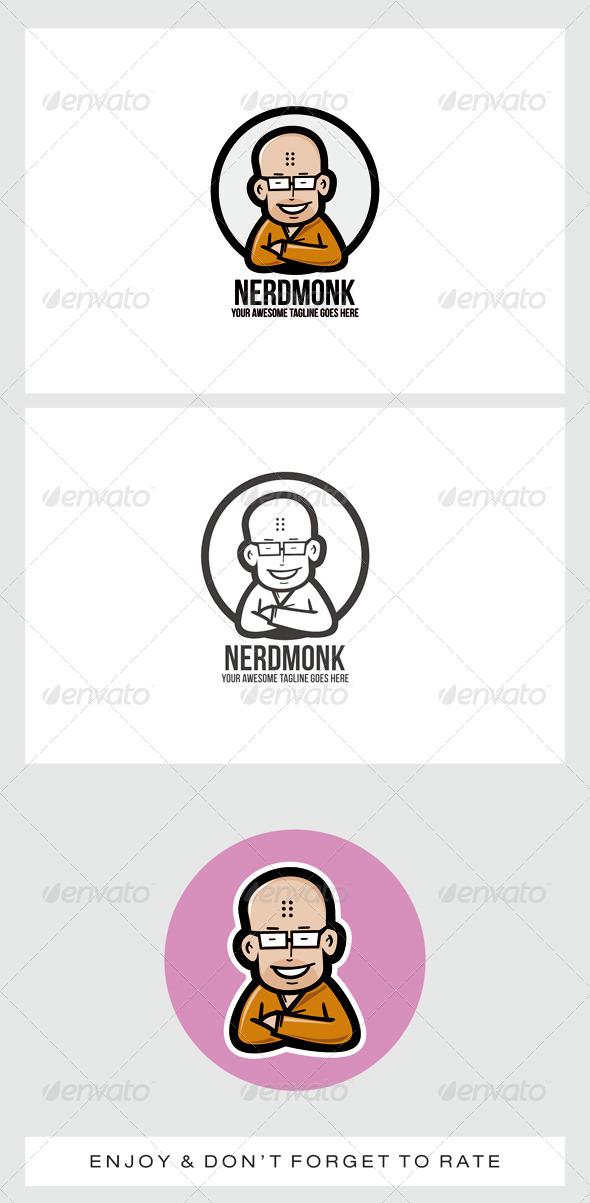 GraphicRiver Nerd Monk Logo Mascot 7679316
