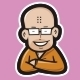 Nerd Monk Logo Mascot - GraphicRiver Item for Sale