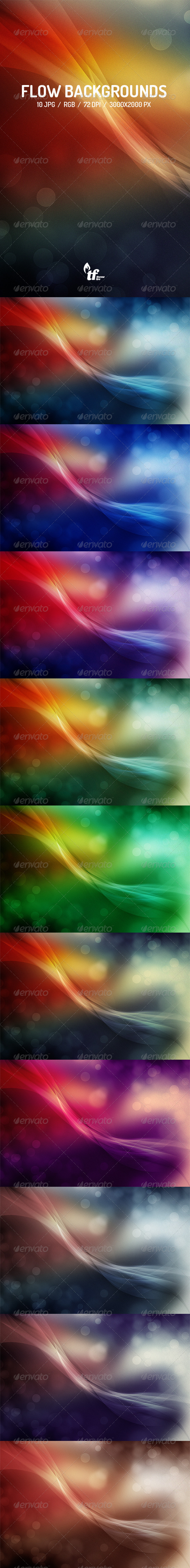 GraphicRiver Flow Backgrounds 7714343