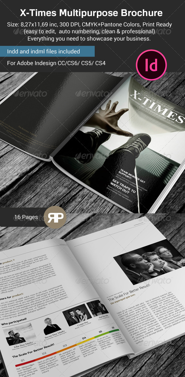 GraphicRiver X Times Multipurpose Business Brochure 7714660