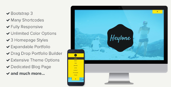 Heylone - One Page Parallax WordPress Theme - Creative WordPress