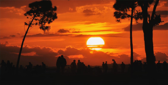 Sunset and People Silhouette 4
