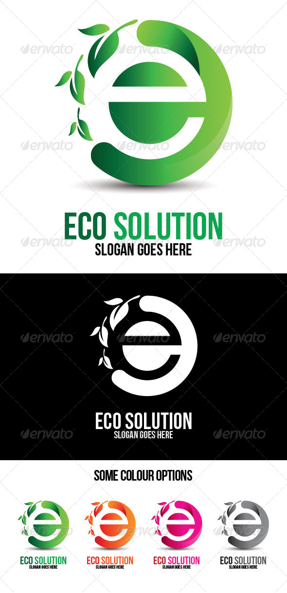 Eco Solution Technologies Logo Template