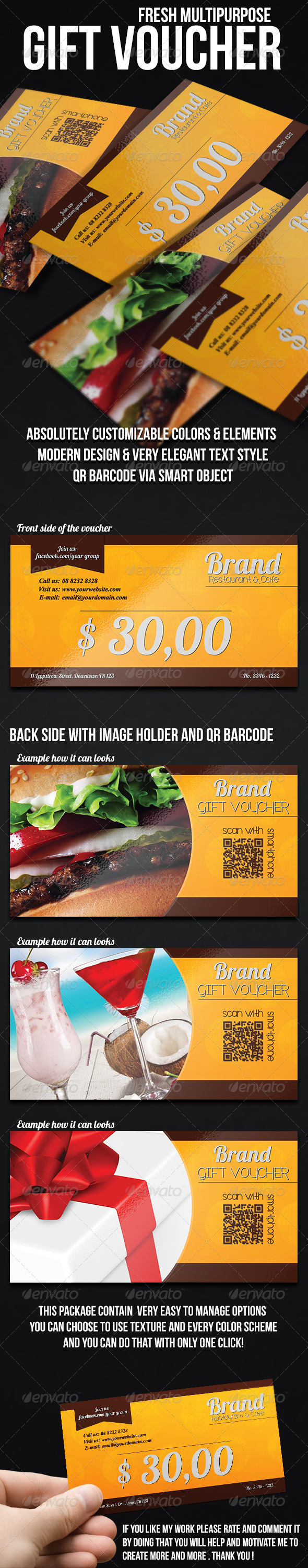 GraphicRiver Fresh multipurpose gift voucher 7715012