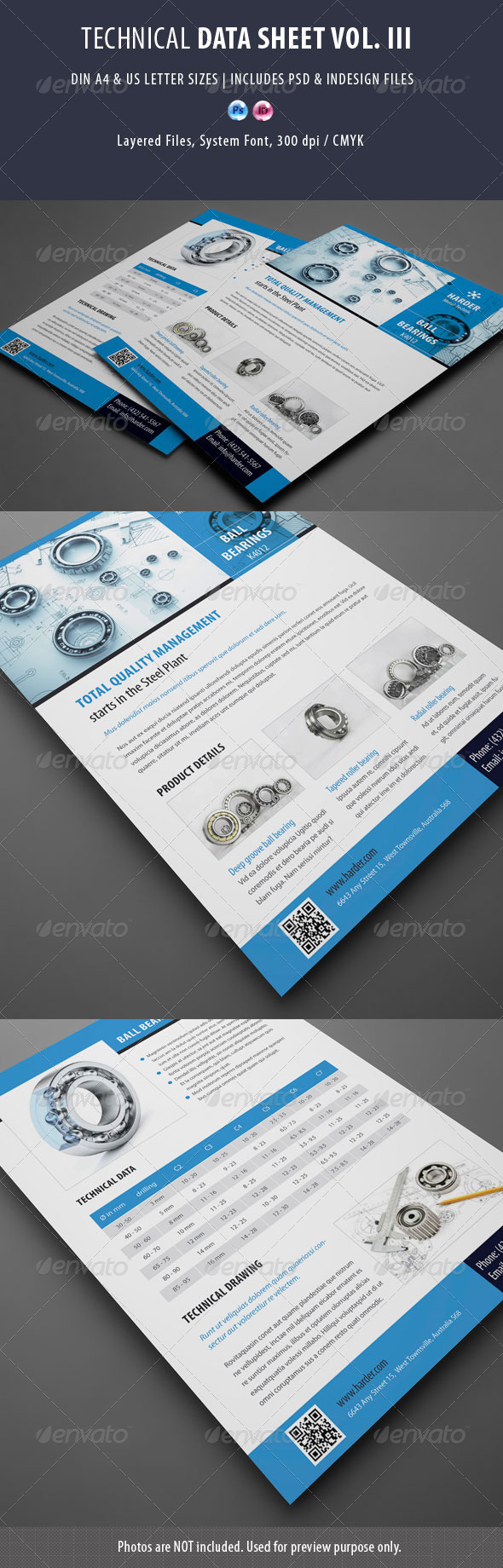 GraphicRiver Technical Data or Product Sheet Vol III 7715076